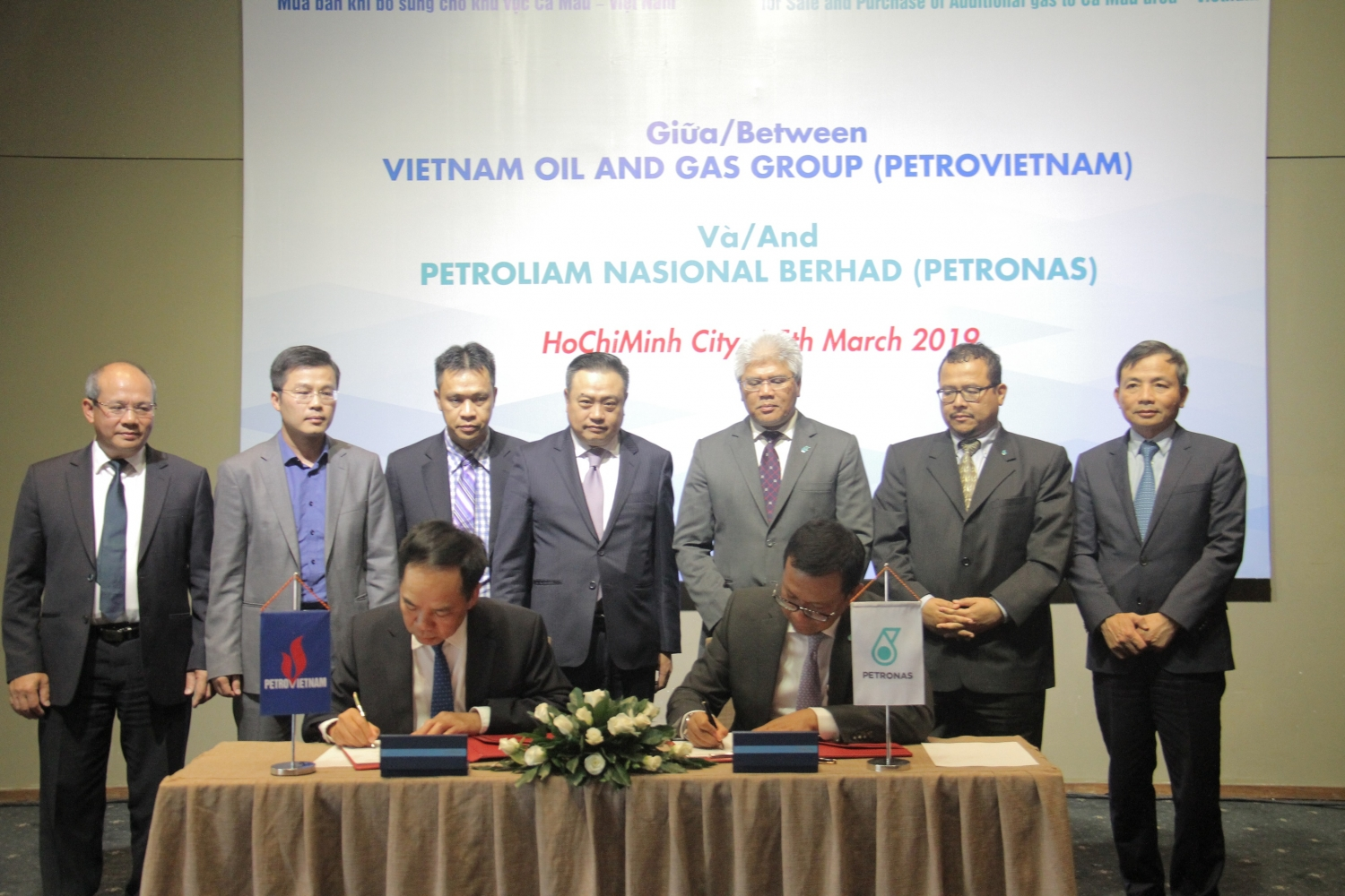 Petrovietnam and Petronas signs head of agreement for gas sale and purchase
