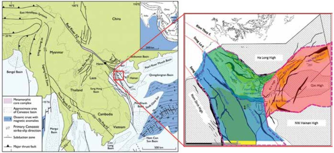 Architecture, depositional pattern of syn rift sediments in the Northern Song Hong basin and its petroleum system association